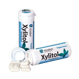 Miradent Xylitol žvýkačky PEPPERMINT 30 ks