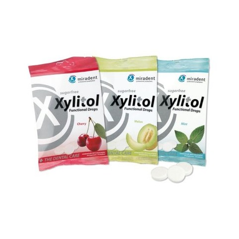 Miradent Xylitol pastilky MINT 26 ks