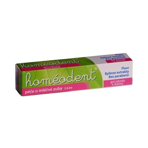 Homeodent jahoda dětská zubní pasta 50 ml