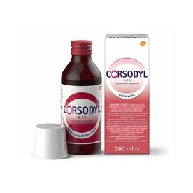Corsodyl ústní voda 0,1% CHX 200 ml