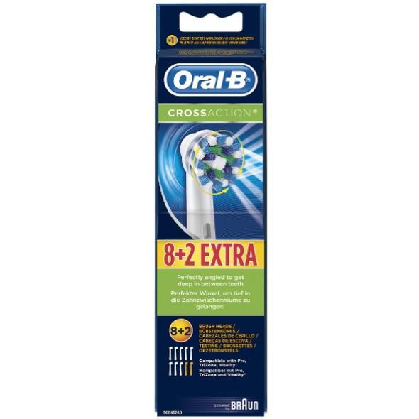 Braun Oral-B CrossAction EB 50-10 náhradní kartáčky 8+2ks