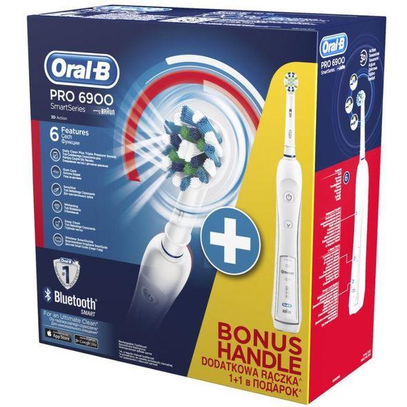 Braun Oral-B PRO 6900 SmartSeries 1+1 tělo zubní kartáček