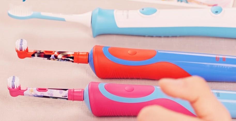 Elektrické zubní kartáčky pro děti