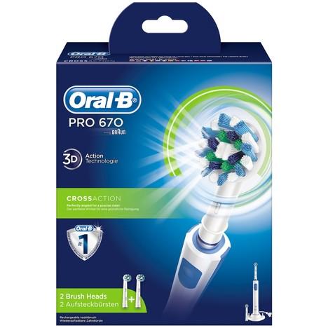 Braun Oral-B PRO 670 CrossAction zubní kartáček