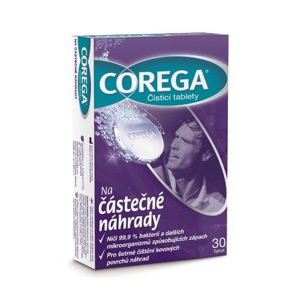 Corega na částečné náhrady čistící tablety 30 ks