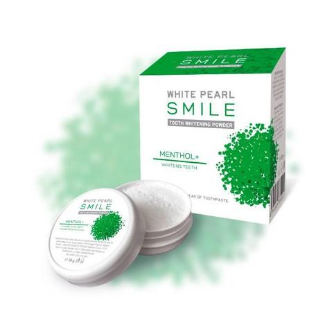 White Pearl Smile Mentol bělicí zubní pudr 30 g