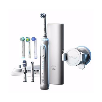 Braun Oral-B Genius 8000 White zubní kartáček + 6ks hlavic v balení