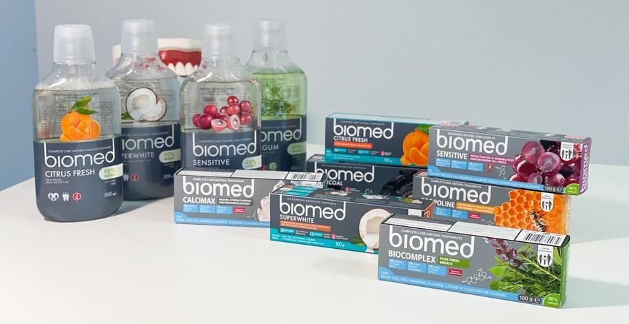 Zubní pasty a ústní vody Biomed