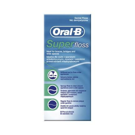 Oral-B Superfloss Mint zubní nit 50 ks