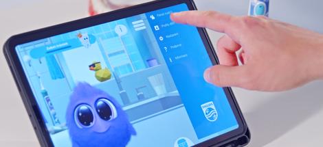 Zabavte děti u čištění díky aplikaci Philips Sonicare se Sparklym