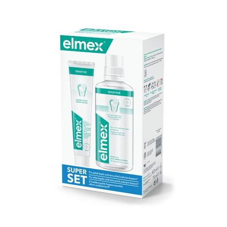 Elmex Sensitive set zubní pasta 75 ml + ústní voda 400 ml