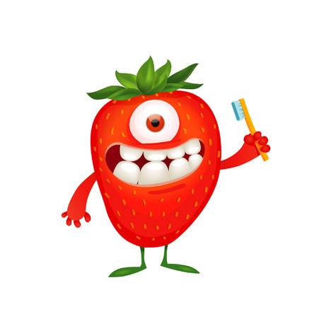The Humble for Kids Strawberry dětská zubní pasta 75 ml