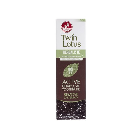 Twin Lotus Active Charcoal zubní pasta 150 g