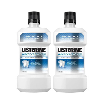Listerine Advanced White ústní voda 2×500 ml
