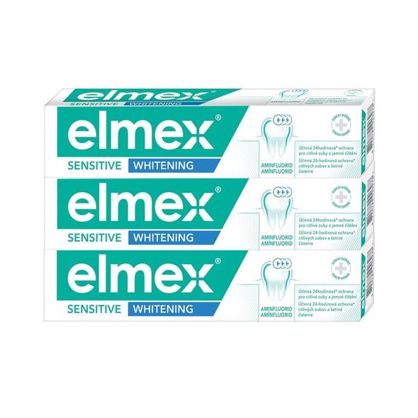 Elmex Sensitive Whitening zubní pasta 3×75 ml