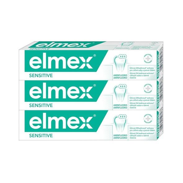 Elmex Sensitive zubní pasta 3×75 ml