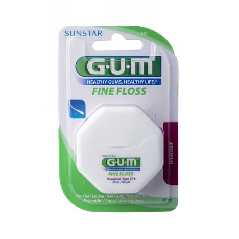 GUM Fine Floss unwaxed nevoskovaná zubní nit 55 m