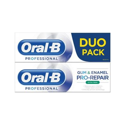 Oral-B Gum & Enamel Professional Extra Fresh zubní pasta 2x75 ml
