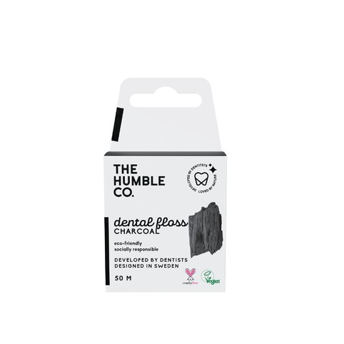The Humble Floss Charcoal zubní nit 50 m