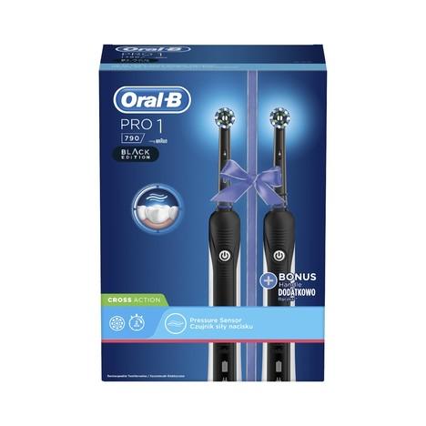 Oral-B PRO 790 Black oscilační kartáček 2 ks