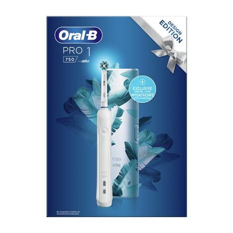 Oral-B PRO 750 CrossAction White oscilační kartáček + cestovní pouzdro
