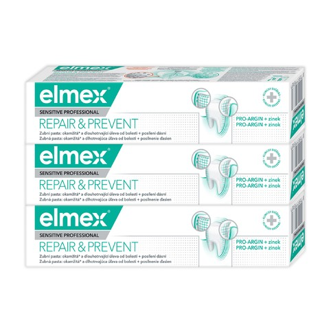 Elmex Sensitive Professional Repair&Prevent zubní pasta 3x75 ml