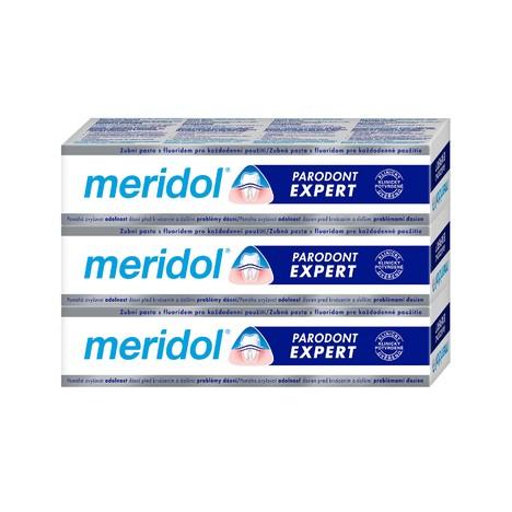 Meridol Parodont Expert zubní pasta 3x75 ml