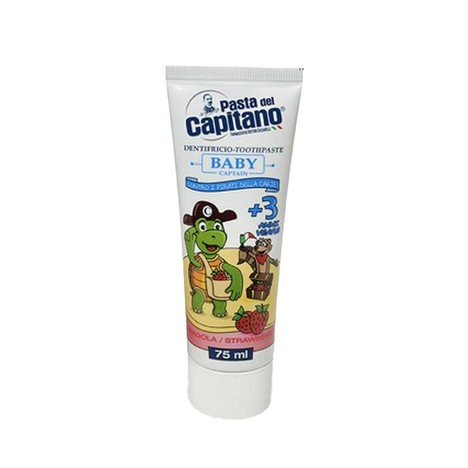 Pasta del Capitano Baby Strawberry dětská zubní pasta 75 ml