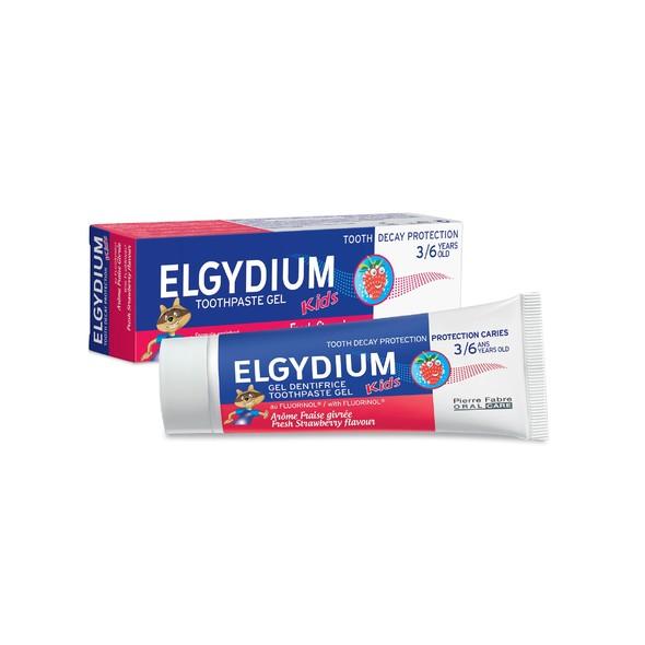 Elgydium Kids Strawberry dětská zubní pasta 50 ml