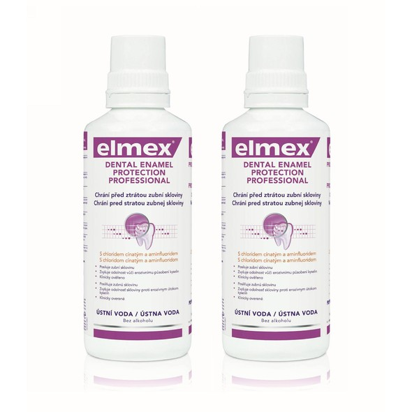 Elmex Dental Enamel Professional ústní voda 2x400 ml