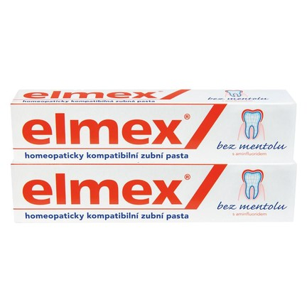 Elmex No Menthol zubní pasta 2x75 ml