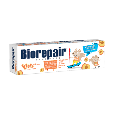 BioRepair Kids Peach 0-6 dětská zubní pasta 50 ml
