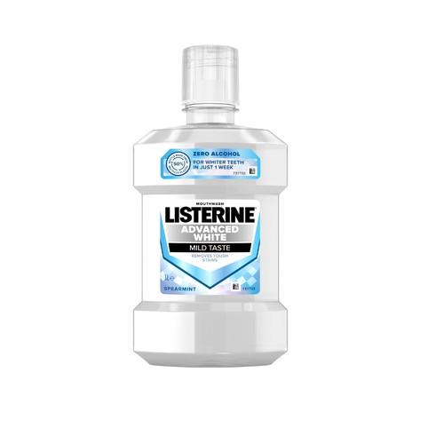 Listerine Advanced White Mild Taste ústní voda 1000 ml