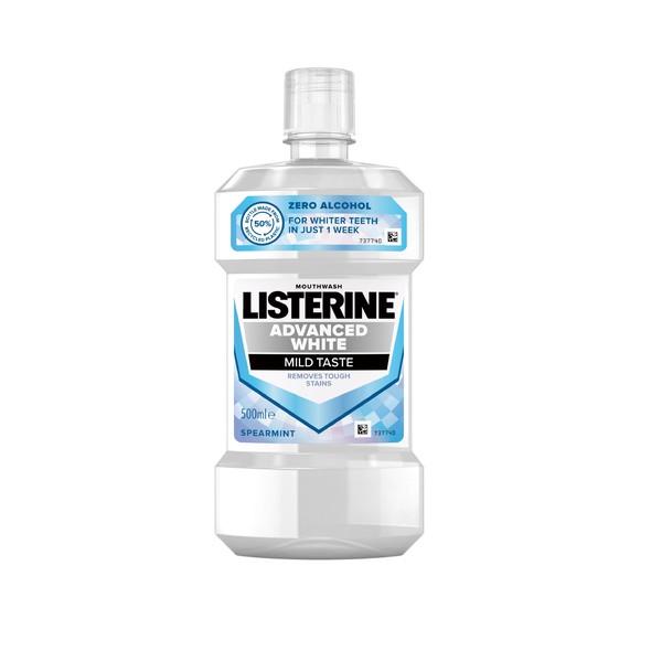 Listerine Advanced White Mild Taste ústní voda 500 ml