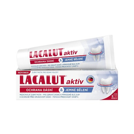 Lacalut Aktiv Gum Protect & Gentle Whitening zubní pasta 75 ml