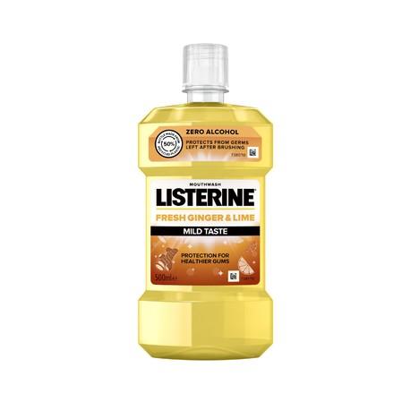 Listerine Fresh Ginger & Lime Mild Taste ústní voda 500 ml