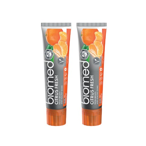 Biomed Citrus Fresh zubní pasta 2x100 g