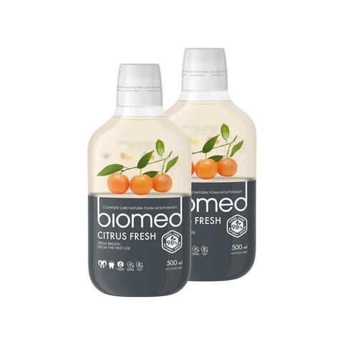Biomed Citrus Fresh ústní voda 2x500 ml