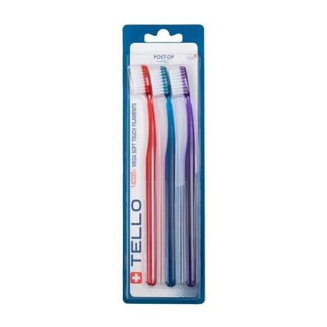 Tello 14000 MegaSoft zubní kartáček 3 ks