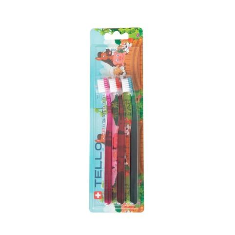 Tello 4480 UltraSoft Compact dětský zubní kartáček 3 ks