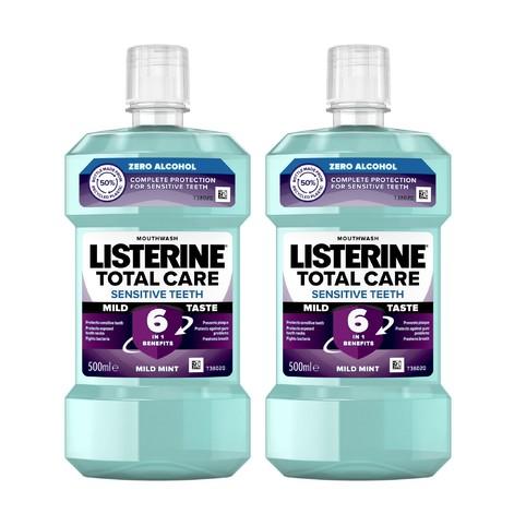 Listerine Total Care Sensitive ústní voda 2x500 ml