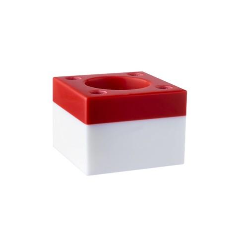Stojánek na zubní a mezizubní kartáčky – červený