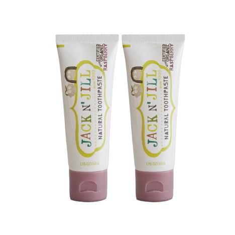 Jack N' Jill Organic Raspberry dětská zubní pasta 2x50 g
