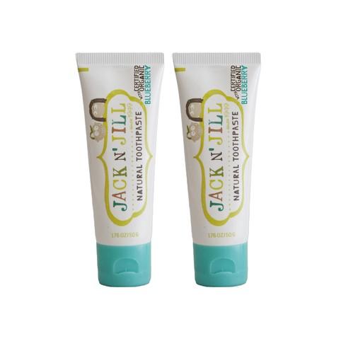 Jack N' Jill Organic Blueberry dětská zubní pasta 2x50 g