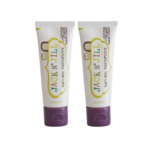 Jack N' Jill Organic Black Currant dětská zubní pasta 2x50 g