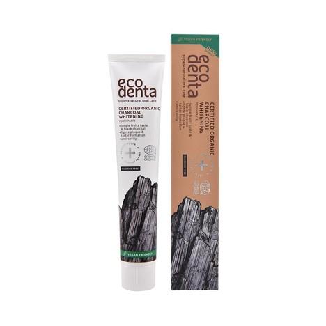 Ecodenta Organic Charcoal Whitening zubní pasta 75 ml