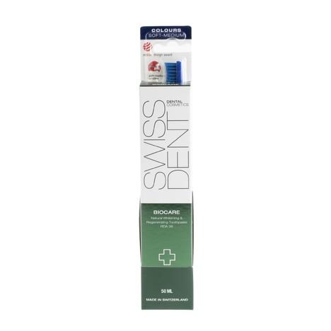 Swissdent Biocare Combo Pack zubní pasta + zubní kartáček