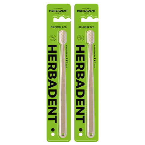 Herbadent Original Eco Medium zubní kartáček 2 ks