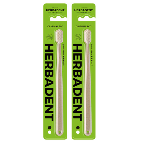 Herbadent Original Eco Soft zubní kartáček 2 ks