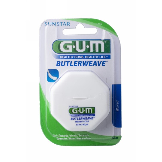 GUM Weave zubní nit voskovaná 55 m
